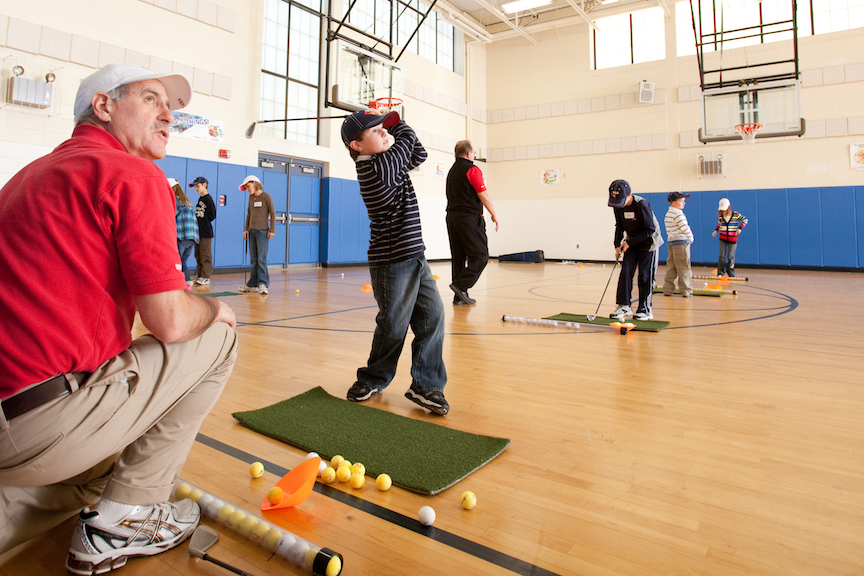 Golf in the School Cafeteria – Of Course Says TGA